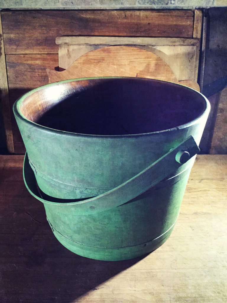 Bucket Painted with Safe Paint Milk Paint