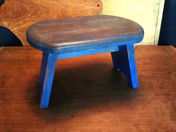Foot Stool Painted with Safe Paint Milk Paint