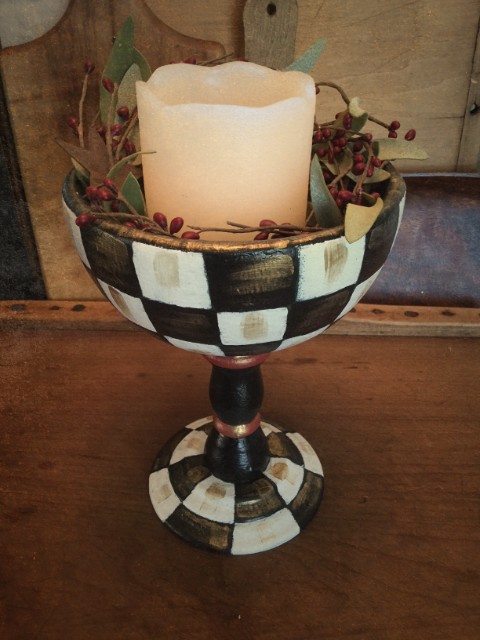 Checkerboard Goblet