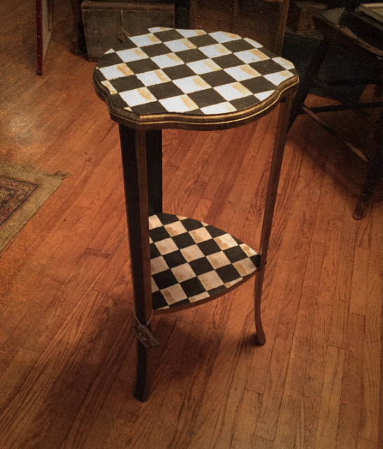 Checkerboard Accent Table