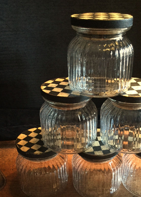 Checkerboard Jars