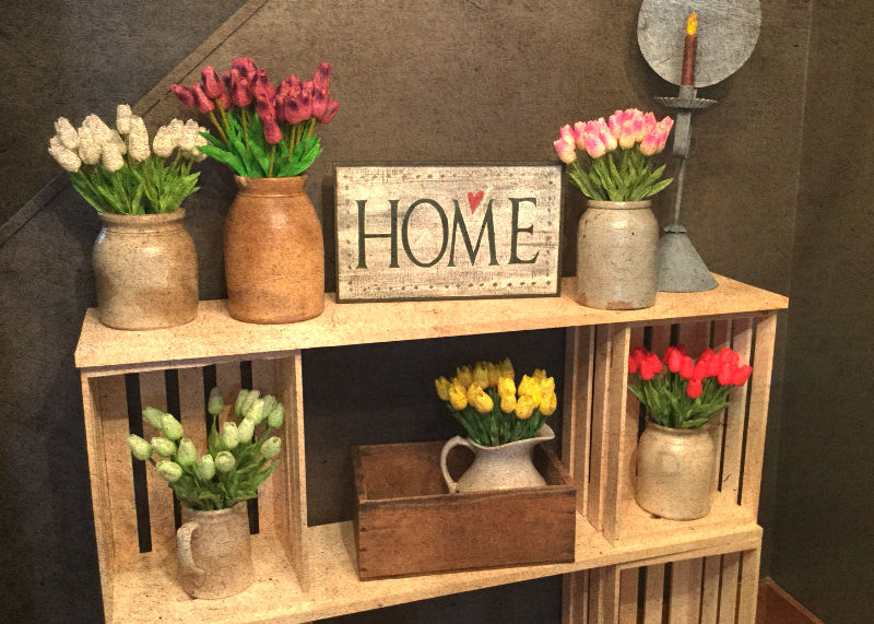 Tulips & Home Sign
