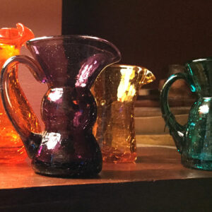 Vintage-Crackle-Glass-Pitchers